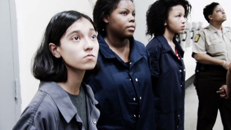The female teens visit the Women's Section of the jail and the inmates get ...
