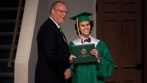 John Luke and Miss Kay Graduate