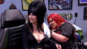 Heather Tattoos Elvira, Mistress of the Dark