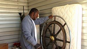 Ivy Finds a Vintage Ship Wheel